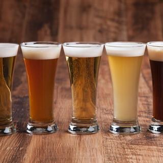 常時5種類のドラフトビールがお出迎え♪
