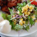 笑み - 生野菜サラダ、ポテトサラダ