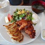 笑み - 餃唐定食(ぎょうからていしょく) 650円