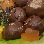 ケーキハウスsin - ミートボール:チョコムースをさらにチョコでコーティング