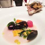 ラグナヴェール プレミア - 5】天然鯛とモンサンミッシェル産ムール貝のナージュ レモングラスの香り