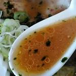 麺屋大志 - スープの感じ。