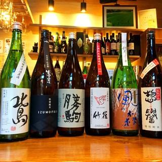 通も喜ぶ日本酒は15~20種!均一価格の580円でご提供◎