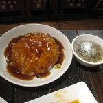 上海モダン - カキ玉子とじの天津飯