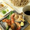 海鮮と旬野菜の浜焼ざる蕎麦