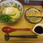 さぬきうどん こも庵 - 生醤油とちくわ天 720円