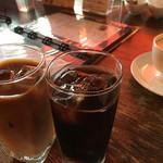 リラクゼーションカフェシャンドゥルール - アイスカフェラテ&アイスコーヒー