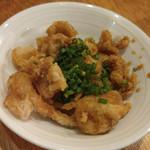 Kushikatsudengana - かりかり鶏皮ポン酢