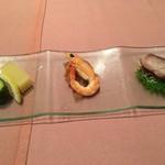 中国料理 梨杏 - 前菜3種盛り