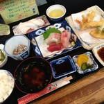 秀 - H.28.10.28.昼 贅沢セット(天ぷら・お造り) 1,300円税込