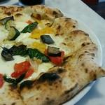58372360 - 【ランチ】オルトラーナ:モッツアレラ、バジリコ、本日の野菜(ズッキーニ、赤・黄パプリカ)