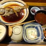 麦屋魚仙坊 - 料理写真:麦とろ季節煮魚(クロムツ)