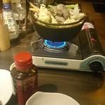 串カツ酒場 えん満 - あさりと具沢山野菜の塩バター鍋