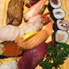 大船鮨 - 料理写真:アナゴ、ホタテ、イクラ、玉子、煮たこ、カニ、甘エビ、サーモン、マグロ、あとは巻き物