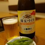 清兵衛 - 料理写真:(2016/9月)瓶ビールとお通し