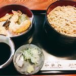 尾張屋 - 二色盛り+天ぷら  864円