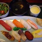 尾州鮨 - 限定ランチ「天神」1600円(玉子はサンドは別)
