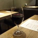 肉炭バル MATOIYA - ランチワイン(スパークリング、赤、白)350円