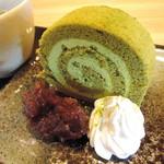 カフェ ド コウエモン - 濃厚抹茶のロールケーキ