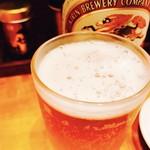 おか輪 - 最初はビールでしょ♡