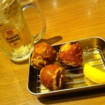 鶏千 - にんにくから揚げ(単品)・ハイボール