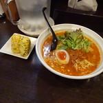 九州坦゛児 - 鶏ガラ担々麺650円ランチおにぎり無料2016年11月