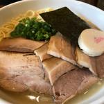 四代目麺処 ゆうじ - 鳥白湯しおらーめん+チャーシュー(750+300円)