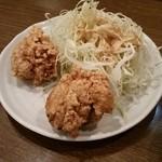 南蛮食堂 - ミニから揚げ190円をつけてみる。