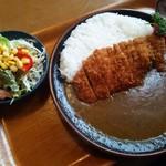 カレーやSAN - カツカレー(900円)+サラダ