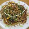末広 - 料理写真:①お好み焼き・そば肉イカ玉子入り
