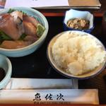 和食 魚佐次 - 2016年11月 鰤とホウボウ二色盛り。