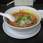担々麺 杉山 - 「担々麺」です。小ライスがサービスです。