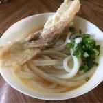 三谷製麺 - 料理写真:うどん(*´д`*)180円 ちくわ(*´д`*)80円