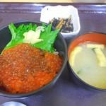 中央食堂 - イクラ丼(全景)