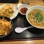 ウエスト - 【2016.10.16】かき揚げ丼セットうどん¥720