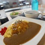 てらかふぇ安 - 料理写真:オムカレーセット