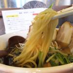 麺場 風雷房 - ストレート麺