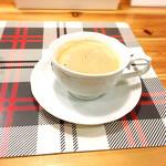 葉月舎 - ランチセットのコーヒー