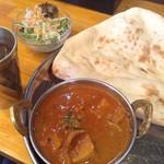 インド ナン ハウス - 日替りランチ 鶏とタケノコのカレー