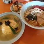 中国料理さと - 料理写真:ラーメン定食 (サービス定食)