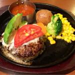 ロイヤル羽生洋食軒 - 黒毛和牛×黒豚の黒×黒 ハンバーグ