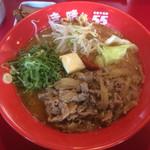 ぎん晴れ55 - 肉盛り味噌らーめん 大盛 890円