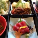 木曽路 - お刺身とお肉^▽^