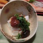 梅田屋 - 長芋醤油味噌豆和え