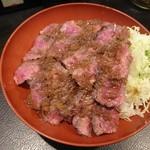 58437770 - 極上イチボステーキ丼(大)1250円