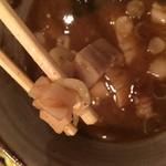 58438212 - スープ内の刻まれた叉焼。                       ちょっと寂しい!