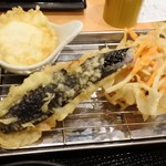 58439596 - 玉子天・なす・野菜かき揚げ