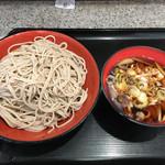 名代 富士そば - 2016年11月1日 秋のうま辛肉つけそば490円。