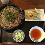 龍王 - 舞茸の天ぷらと蕎麦