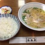 自由軒 - ご飯と味噌汁大と漬物